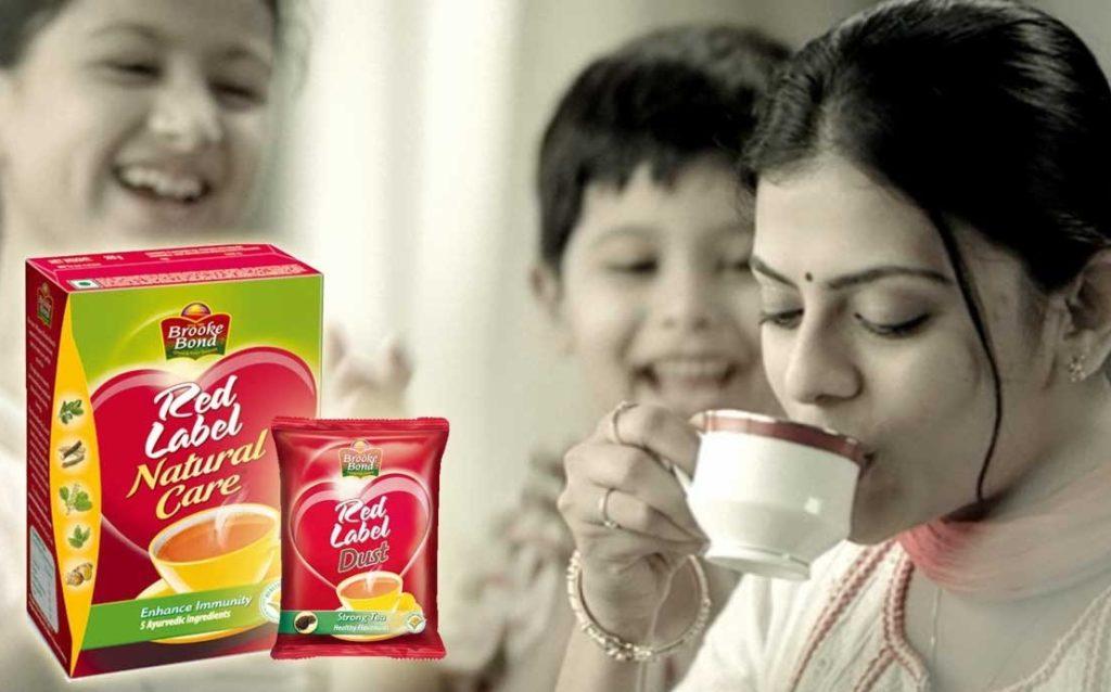 This is a picture of Persnickety Red Label Tea Advertisement 2020