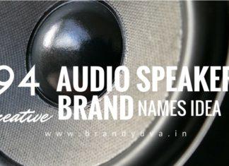 audio speaker brand names