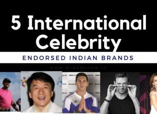 international celebrity endorsed indian brands