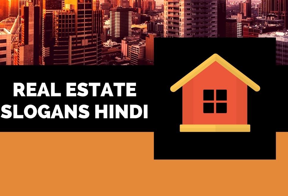 55 Creative Hindi Real Estate Business Slogans