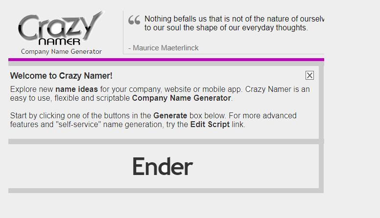 crazy namer brand names generator
