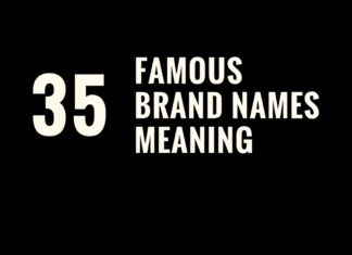 meaning of famous brand names