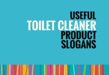 toilet cleaner slogans