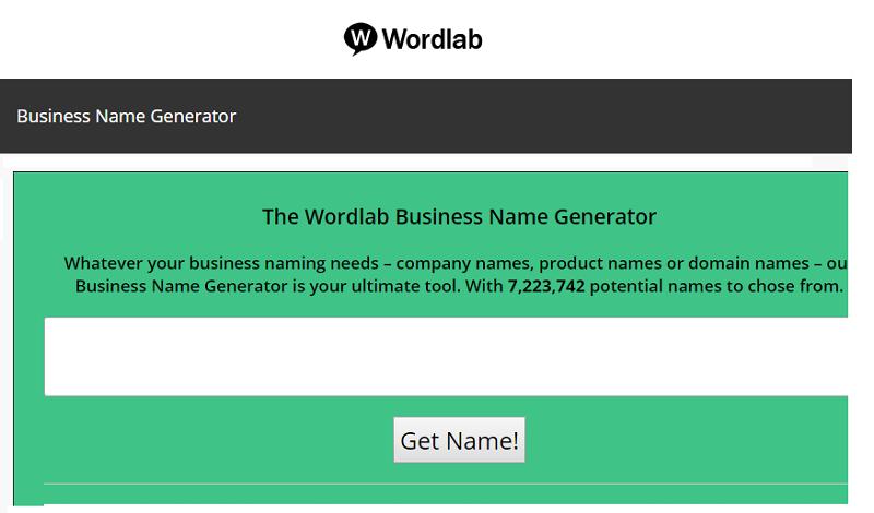 wordlab brand name generator