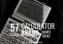 calculator brand names