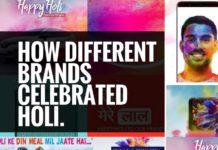 holi celebration by brands