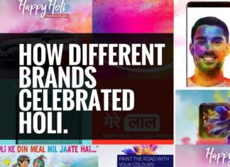 holi celebration by brands