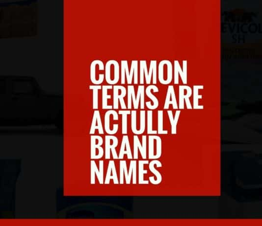 common words are actually brand names