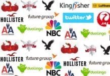 brands logos with bird