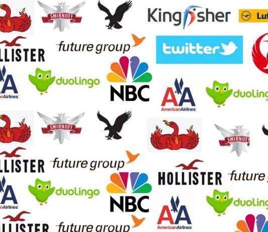 brands logos with bird