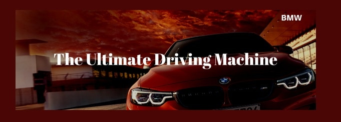 BMw car Slogan