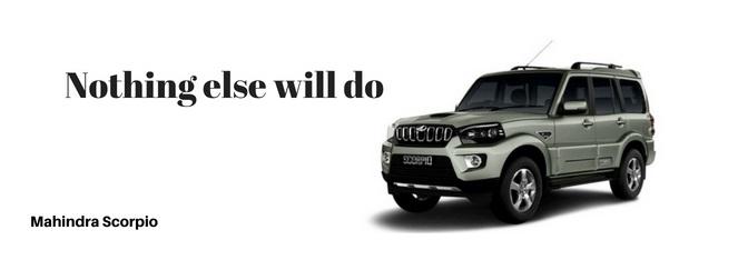 mahindra scorpio car Slogan