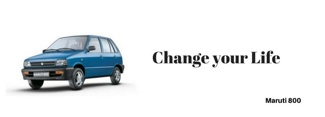 maruti 800 car Slogan