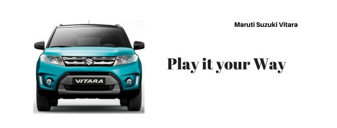 maruti vitara car Slogan
