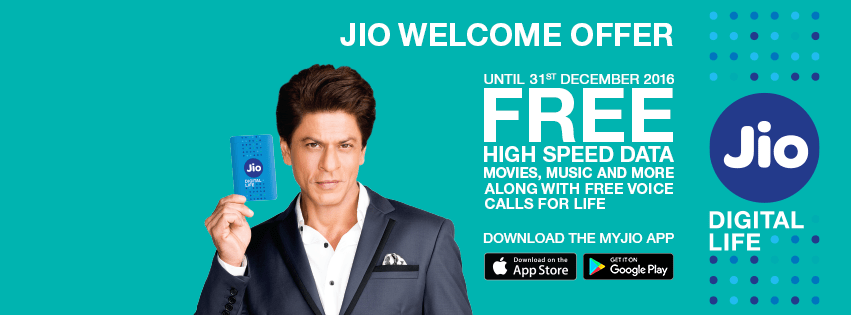 jio welcome offer ad
