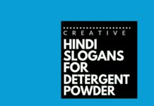 hindi advertising slogans for detergent powder