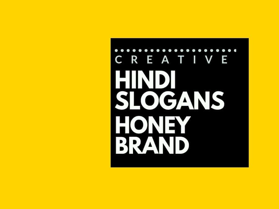 55+ Catchy Advertising Hindi slogans for a Honey brand