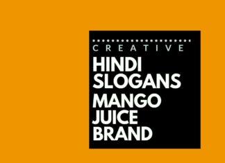 Hindi Slogans for a Mango Juice