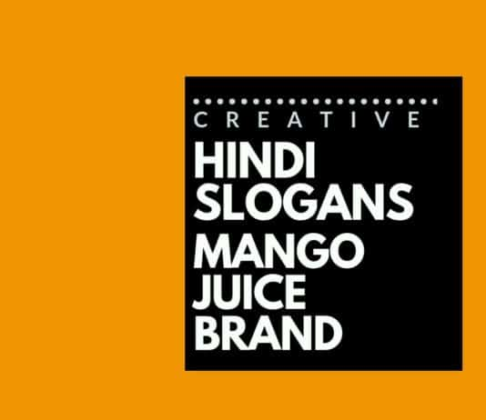 Hindi Slogans for a Mango Juice