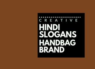 Hindi slogans for a handbag
