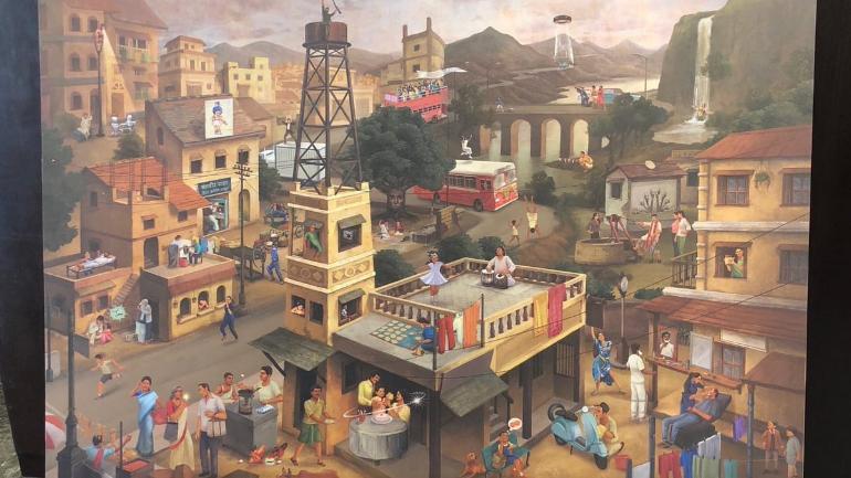 viral ad painting