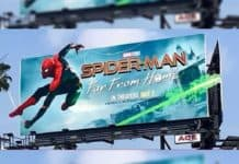 spiderman far from home billboard