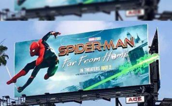 spiderman far from home billboard