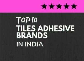 Tiles Adhesive Brands in India